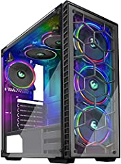 It is a tower PC case designed for e-sports and advanced gamers. It features 2 dark tempered glass panelsAll black coating throughout the inside and out for a sophisticated and stylish look, and it also comes with 6 built-in RGB LED fans.Its...