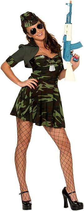 Smiffys - Disfraz de militar para mujer, talla S (33078S): Amazon ...