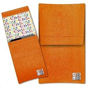 SIMON PIKE Cáscara Funda de móvil Sidney 12 naranja Prestigio MultiPhone 8400 DUO Fieltro de lana