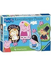 Ravensburger UK 6981 Ravensburger Peppa Pig 4 gevormde bodem puzzel (4,6,8,10pc)
