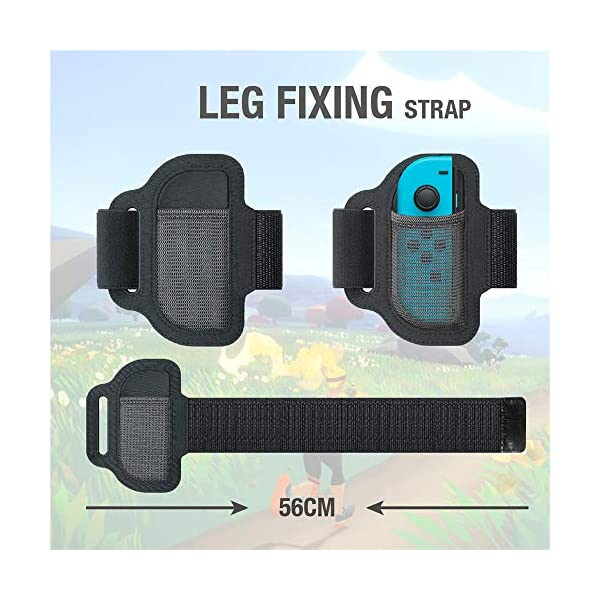 SweetCom Ring-Con Grips and Adjustable Leg Fixing Strap for Nintendo Switch Fit Adventure Game (NOT Include Ring-Con) 4