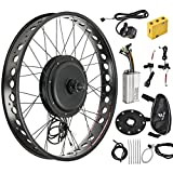 Murtisol Electric E-Bike Motor Kit 26'' Fat Tire Front Wheel 48V 1000W Bicycle Motor Conversion Kit