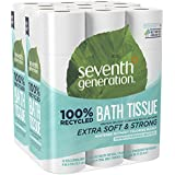 Seventh Generation Toilet Paper, Bath Tissue, 100% Recycled Paper, 24 Count (Pack of 2)
