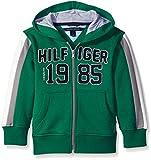 Kyпить Tommy Hilfiger Little Boys' Jean Zip Up Fleece Sweater, Verdant Green, 4 на Amazon.com