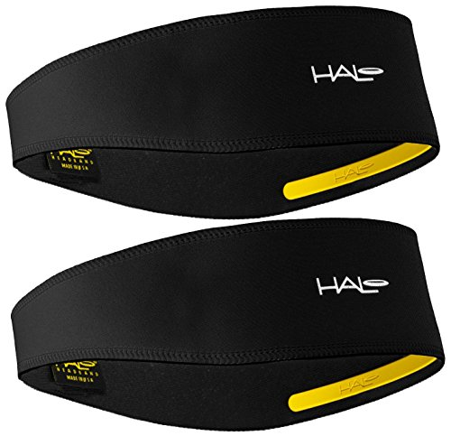 Halo II Headband Sweatband Pullover - 2 Pack - 2-Black Pullover Headbands