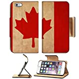 iphone 6 canada - Liili Premium Apple iPhone 6 Plus iPhone 6S Plus Flip Pu Leather Wallet Case Canada flag drawing grunge and retro flag series Photo 21326384 Simple Snap Carrying