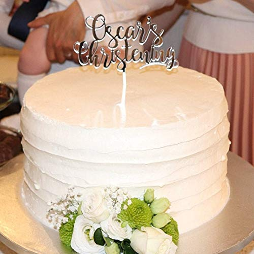 """any name /"""" Details about  /Personalized Christening Custom Cake Topper 60069 /"""" Chrzest Swiety"""