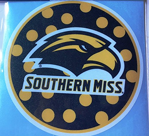 Price comparison product image USM Golden Eagles Polka Dot Circle Car Decal - Southern Miss Auto Window Sticker