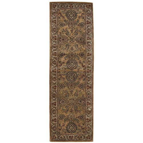 Nourison Jaipur (JA16) Gold Runner Area Rug, 2-Feet 4-Inches by 8-Feet  (2'4