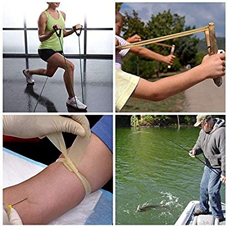AIRSOFTPEAK Natural Latex Rubber Tubing Speargun Band Slingshot Catapult Surgical Tube Rubber Hose 0.2 OD 0.12 ID 3ft// 33ft