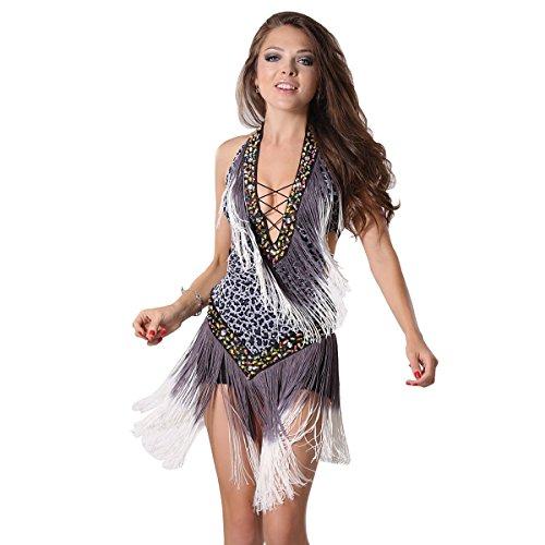MISI CHAO Latin Dance Dresses-Fringe Ballroom Dance