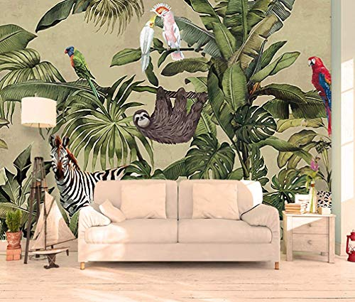 Murwall Forest Wallpaper Vintage Jungle Wall Mural Tropical Home Decor Vintage Cafe Design Living Room Bedroom Entryway