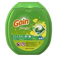Gain Flings Laundry Detergent Packs, Original Scent, 81 Count