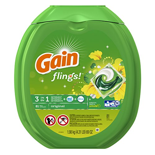 Price comparison product image Gain Flings Original Laundry Detergent Pacs, 81 Count