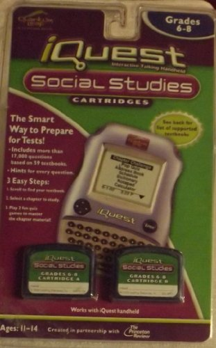 - IQuest Social Studies 2 pack cartridges Grades 6-8
