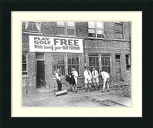 Framed Art Print 'Free Golf'
