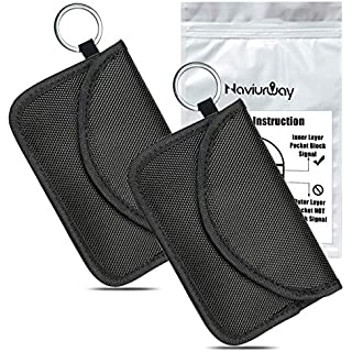 Sale Naviurway 2Pack Key Fob Signal Blocking Bag Automobile RFID Blocking Holder Anti-Hacking Security Bag for Car Smart Keyless Entry Remote Fob Controller Black