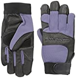 Carhartt Women's Dex II High Dexterity Work Glove with Leather Palm and Knuckle Protection, Blue Dusk Black, Large