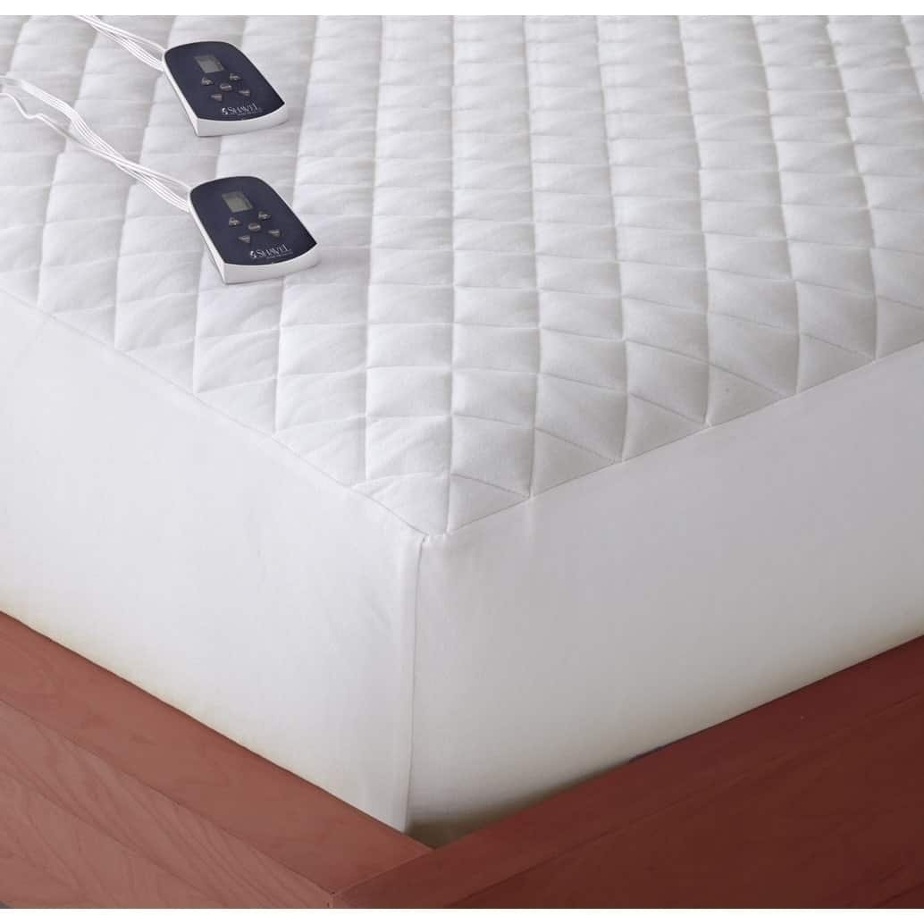 Shavel Home Products Micro Flannel Electric Mattress Pad Twin