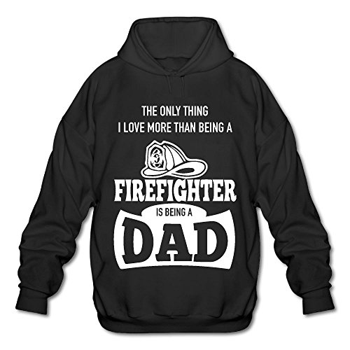 Sweoyn55 Only Thing Love More Than Being Firefighter Is Dadmen With Cap Without Pocket Sweater Printingfashion Casual Sweater Hooded Sweatshirt