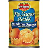 Del Monte Canned Mandarin Oranges in Water, No Sugar Added, 15.0-Ounce