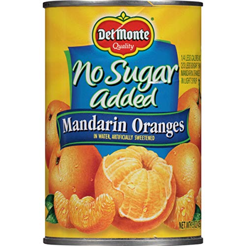 Del Monte Canned Mandarin Oranges in Water, No Sugar Added, 15.0-Ounce (Pack of 12)