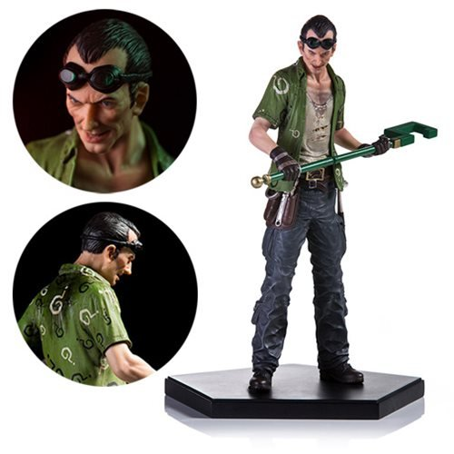 10 Scale Action Figure (Iron Studios Batman: Arkham Knight The Riddler 1:10 Scale Figure)