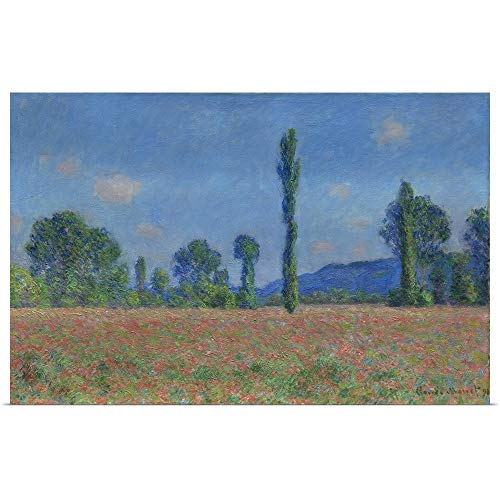 (GREATBIGCANVAS Poster Print Entitled Poppy Field, Giverny, 1890-91 by Claude Monet 18