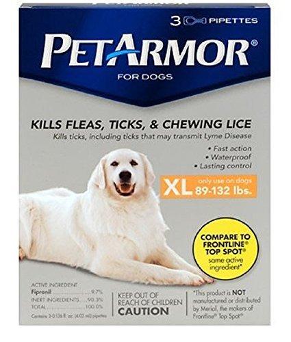 Pet Armor for Dogs Xl 89-132 Lb. 3pk