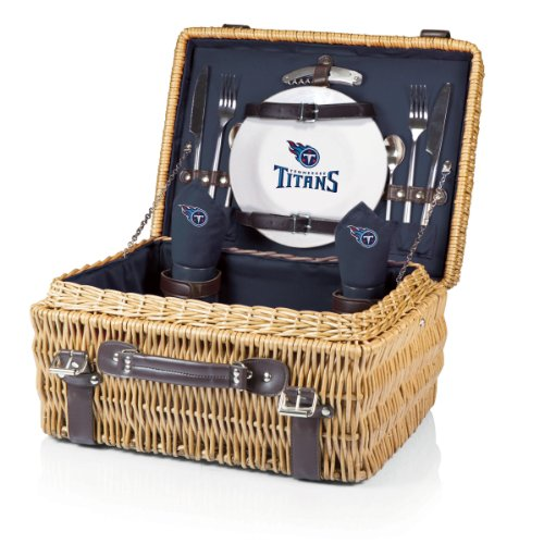 NFL Tennessee Titans Champion Picnic Basket with Deluxe Service for Two, Navy by PICNIC TIME