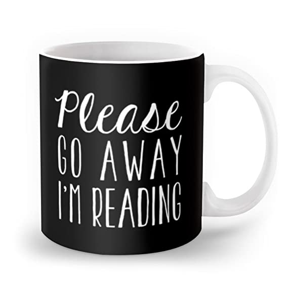 Society6 Please Go Away, I'm Reading (Polite Version) - Inverted Mug 11 oz