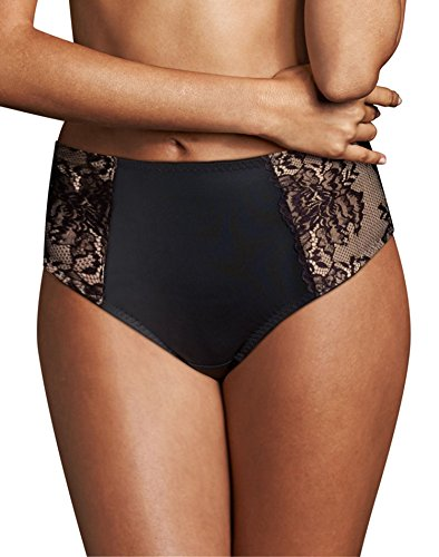Maidenform Womens Sexy Lace Light Control Thong, L, Champagne Shimmer/Ivory