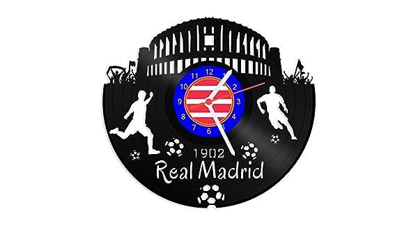 Grabado Línea Tocadiscos Reloj Real Madrid – 100% del amor ...