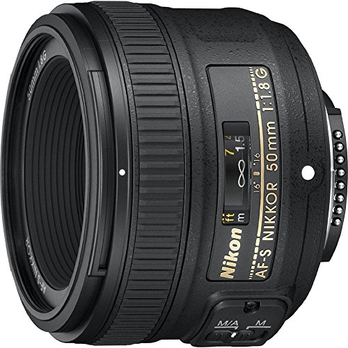 Nikon AF-S FX NIKKOR 50mm f/1.8G Lens with Auto Focus for Nikon DSLR Cameras (Best Wide Lens For Nikon Dx)