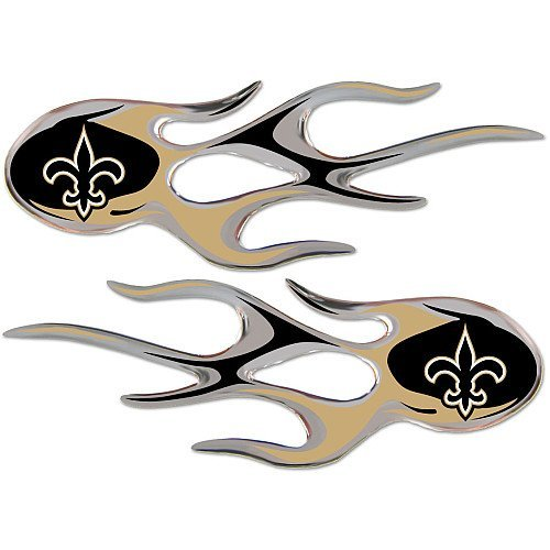 (NFL New Orleans Saints Micro Flame Graphics Decal (Pack of 2))