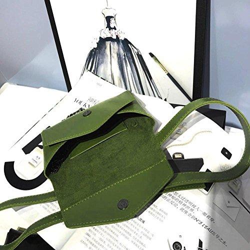 Pecho Verde Cuero Cerrojo Hombro De Cintura Domybest Mujeres Crossbody Cadena Color De Paquetes Las Simples Bolsas YZwRfFqP