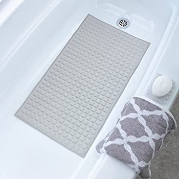 "Amazon.com: Loofah Anti-Slip Bath Mat - White, 16"" x 28"