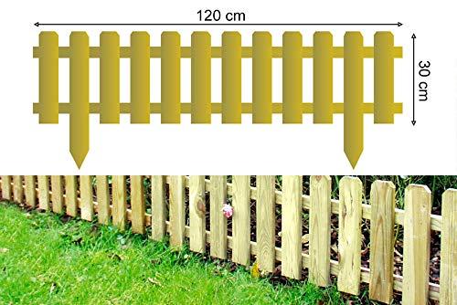 Gartenpirat Steckzaun Fur Beetbegrenzung 1 2 M Gartenzaun 30 Cm