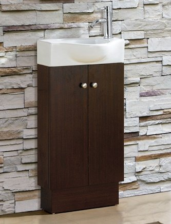 BATHROOM VANITY SET - CABINET AND SINK- GLENWOOD WENGE by FINE FIXTURES