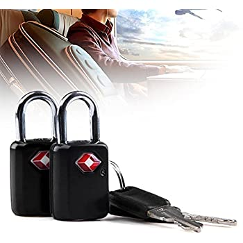TSA Approved Padlock, Ultra-Secure Key Travel Luggage Lock with Zinc Alloy Body (2 Pack)