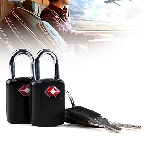 TSA Approved Padlock, Ultra-Secure Key Travel Luggage Lock with Zinc Alloy Body (2 Pack) by jasit