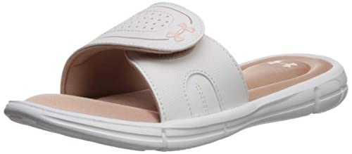 54261231f Under Armour Women s Ignite VII Slide Sandal Bashful Pink (200) Onyx White 6