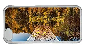 Hipster DIY iPhone 5C cover autumn lake PC Transparent for Apple iPhone 5C