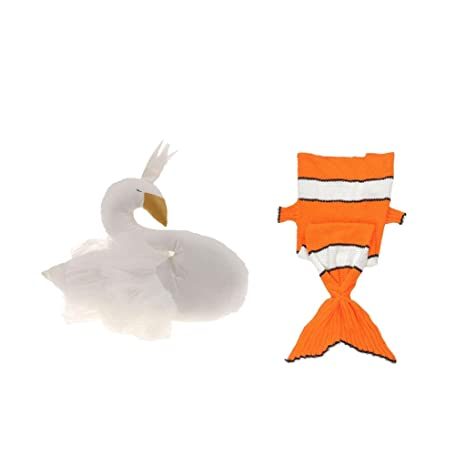 MagiDeal 1pc Saco de Dormir Forma de Cola de Pescado de Niños Manta de Sofá+