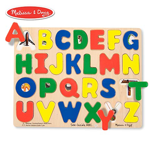 Melissa & Doug See-Inside ABC Large Wooden Puzzle (26 pcs)