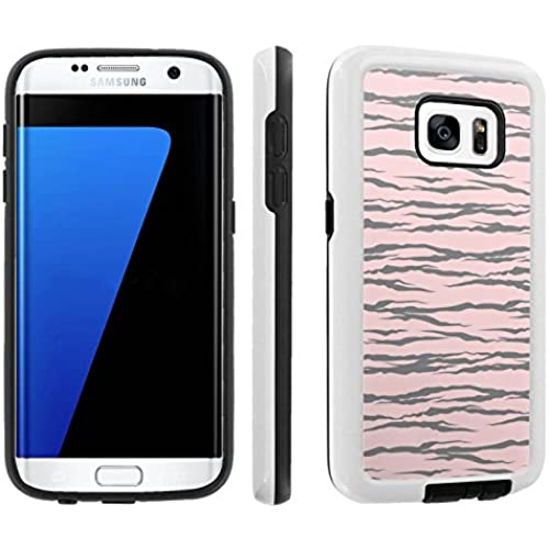 [Galaxy S7] [5.1 Screen] Armor Case [Skinguardz] [White/Black] Shock Absorbent Hybrid - [Pink Grey Zebra] for Samsung Galaxy S7 / GS7 Sales
