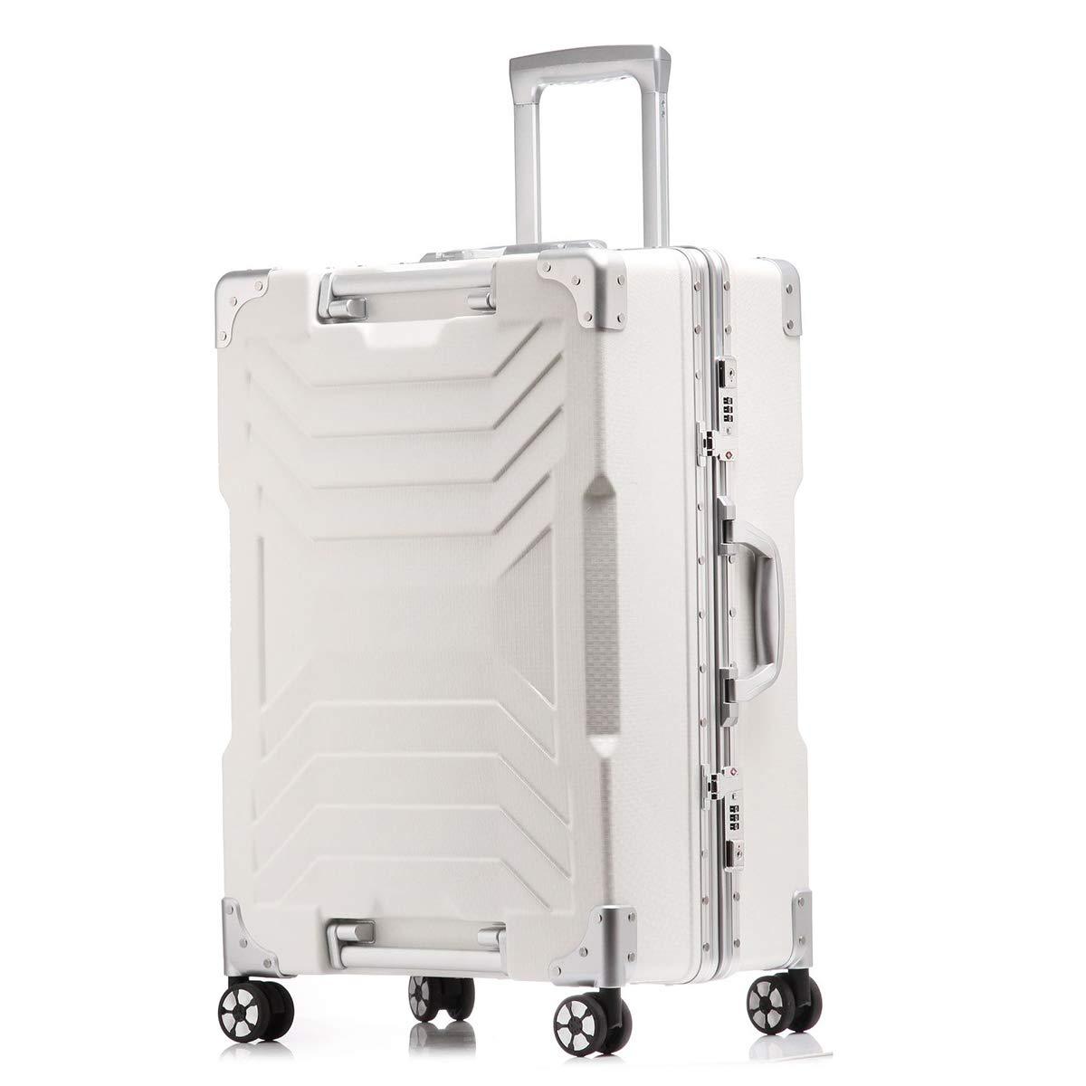 PCの旅行はトロリー小屋の軽量の堅い貝の耐久力のある車輪で運びます手の小屋の荷物のスーツケースで運びます,white,29inch B07QQR6PJP white 29inch