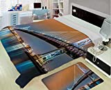 Flannel Printed Blanket for Warm Bedroom,Apartment Decor,Ben Franklin Bridge and Philadelphia Skyline Viewed from Camden Across The Delaware River Decorative,One Side Printing,Excess Value