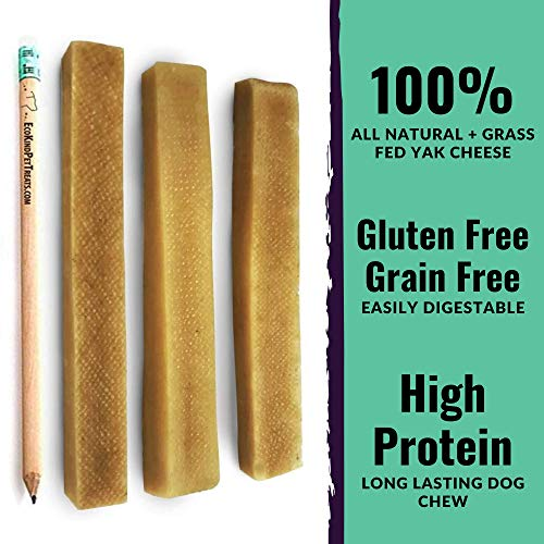 EcoKind Yak Cheese Dog Chews for Small Dogs | 1 Large Stick | Healthy Dog Treats, Odorless, Long Lasting Dog Bones for Puppies, Indoors & Outdoor Use, Rawhide Free, Made in The Himalayans