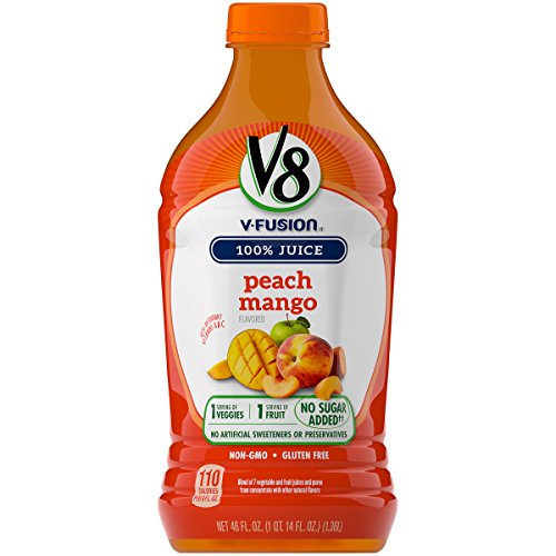 V8 V-Fusion, Peach Mango, 46 Ounce (Packaging May (Mango Fruit Juice)